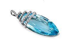 Topásový prívesok s diamantmi Tamiss 0,220 ct KU189P