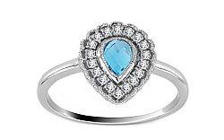 Topásový prsteň s 0,130 ct diamantmi Brea 7 KU0085