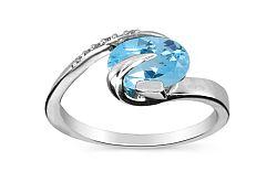 Topásový prsteň s diamantmi Brea 0,030 ct KU181