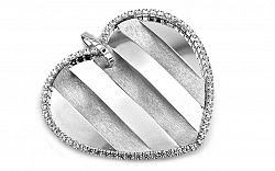 Veľké zlaté srdce Fashion heart IZ1694