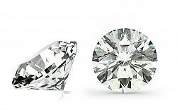 VS2 E 0.5 ct diamant certifikát HRD brus Round IZDI1269