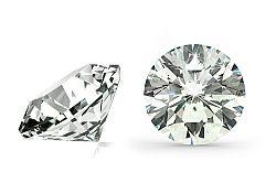 VS2 E 0.5 ct diamant certifikát HRD brus Round IZDI1271