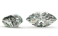VVS1 D 0.155 ct diamant certifikát IGI brus Marquise IZDI1326