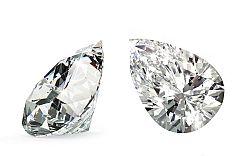 VVS2 D 0.3 ct diamant certifikát brus Pear IZDI1382