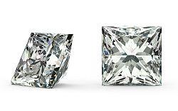 VVS2 E 0.71 ct diamant certifikát HRD brus Princess IZDI990