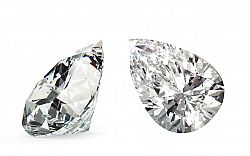VVS2 G 0.91 ct diamant certifikát HRD brus Pear IZDI997