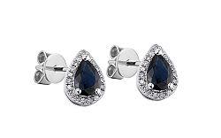 Zafírové náušnice s diamantmi Valora 1 IZBR100N