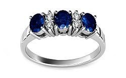 Zafírový prsteň s 0,110 ct diamantmi Follow Emotion ARBR16