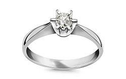 Zásnubný prsteň 0.170 ct NELA middle white CSBR39A