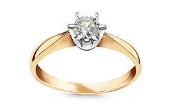 Zásnubný prsteň 0.220 ct Si1/F Nela large CSBR37