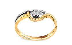 Zásnubný prsteň s 0,015 ct briliantom Engagement of love CSBR04