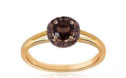 Zásnubný prsteň s 0,044 ct diamantmi Brown dream KU254