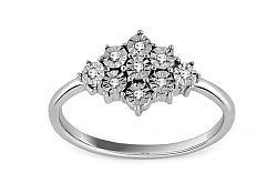 Zásnubný prsteň s 0,050 ct diamantmi Illusion Square KU239