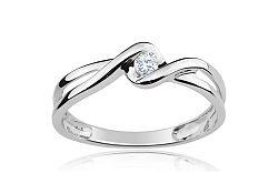 Zásnubný prsteň s 0,080 ct briliantom Loving moments white CSBR2086A