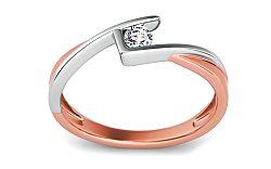 Zásnubný prsteň s 0,080 ct diamantom Magic Beauty 3 KU200