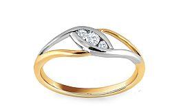 Zásnubný prsteň s 0,100 ct diamantmi Biane Eye KU271