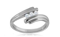 Zásnubný prsteň s 0,100 ct diamantmi Biane Romance KU269