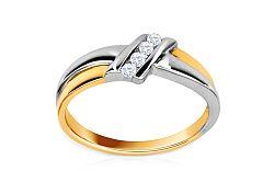 Zásnubný prsteň s 0,100 ct diamantmi Sheila 3 KU104