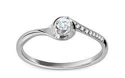 Zásnubný prsteň s 0,130 ct diamantmi Jeeny white KU250A