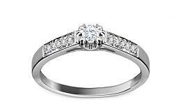 Zásnubný prsteň s 0,130 ct diamantmi Magic Bloom KU214
