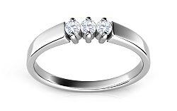 Zásnubný prsteň s 0,150 ct diamantmi Island rains ARBR14