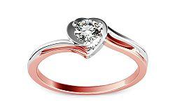 Zásnubný prsteň s 0,160 ct diamantom Etos 1 KU184
