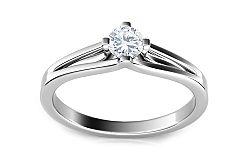 Zásnubný prsteň s 0,160 ct diamantom Promise 7 ARBR08