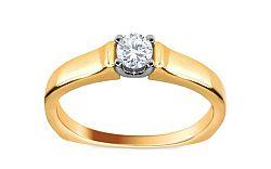 Zásnubný prsteň s 0,170 ct diamantom Dream of love KU227