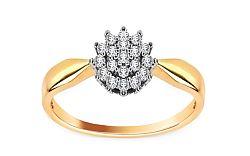 Zásnubný prsteň s 0,210 ct briliantmi Chantal CSBR2252