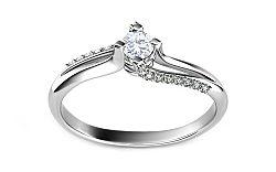 Zásnubný prsteň s 0,230 ct diamantmi Promise 9 white ARBR11