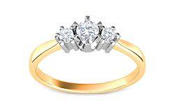 Zásnubný prsteň s 0.250 ct briliantmi Triple of love CSBR08