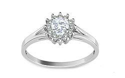 Zásnubný prsteň s 0.280 ct briliantmi Marquis white CSBR1986A