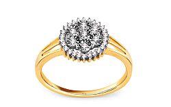 Zásnubný prsteň s briliantmi 0,120 ct Marissa 3 KU122