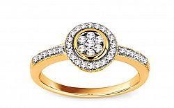 Zásnubný prsteň s briliantmi 0,200 ct Ardiente 1 KU155