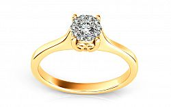 Zásnubný prsteň s briliantmi 0,200 ct Passion ARBR12Y
