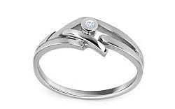Zásnubný prsteň s briliantom 0,015 ct The discovery of love white CSBR05A