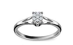 Zásnubný prsteň s diamantmi 0,040 ct Elinor 8 KU157