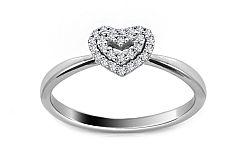 Zásnubný prsteň s diamantmi 0,090 ct Diamond Heart DB0024