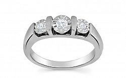 Zásnubný prsteň s diamantmi 0,170 ct Dream Illusion white KU236A