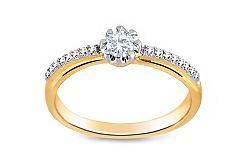 Zásnubný prsteň s diamantmi 0,170 ct Jeeny 2 KU251