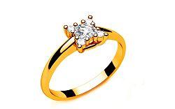 Zásnubný prsteň s diamantmi 0,190 ct Key To Heart 8 Yellow LRBR031Y
