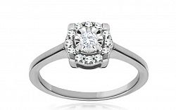 Zásnubný prsteň s diamantmi 0,190 ct Magic Flower white KU204A