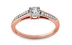 Zásnubný prsteň s diamantmi 0,200 ct Illusion Vision red KU243R