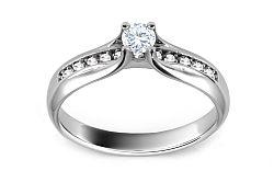 Zásnubný prsteň s diamantmi 0,260 ct Shine Glory ARBR31