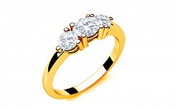 Zásnubný prsteň s diamantmi 0,330 ct Tree Treasures 2 Yellow LRBR039Y