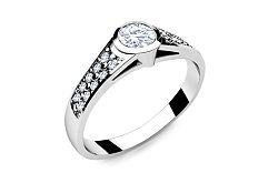 Zásnubný prsteň s diamantmi 0,350 ct Key To Heart 10 LRBR036