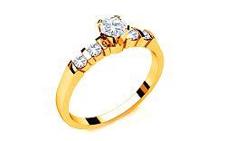 Zásnubný prsteň s diamantmi 0,350 ct Key To Heart 11 Yellow LRBR038Y