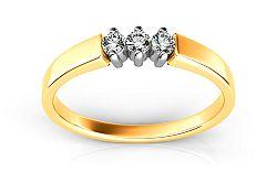 Zásnubný prsteň s diamantmi Island Rains 0,150 ct ARBR14Y