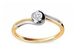 Zásnubný prsteň s diamantom 0,080 ct Ariadna 1 KU262