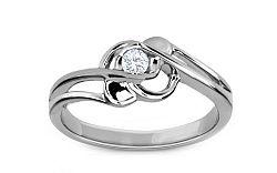 Zásnubný prsteň s diamantom 0,080 ct Rose 3 white KU173A